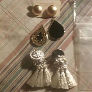 3 pair's of earrings